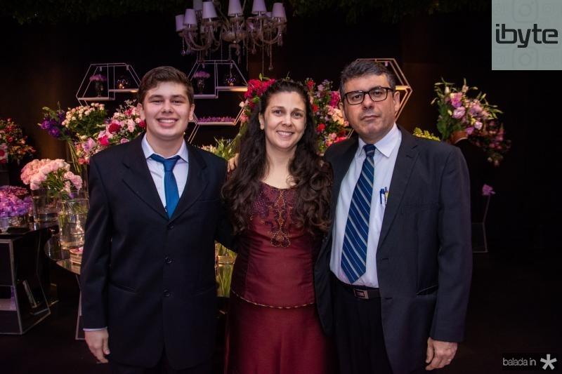 Glauco Barreira Neto, Erica Nogueira e Glauco Barreira Filho