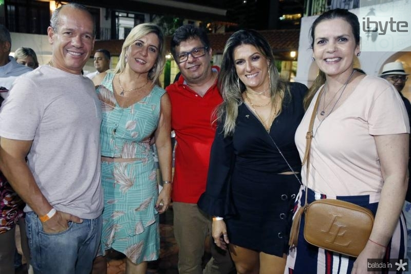 Beto Cavalcante, Ana Claudia Rego, Eduardo e Adriana Markan e Daniela Bezerra