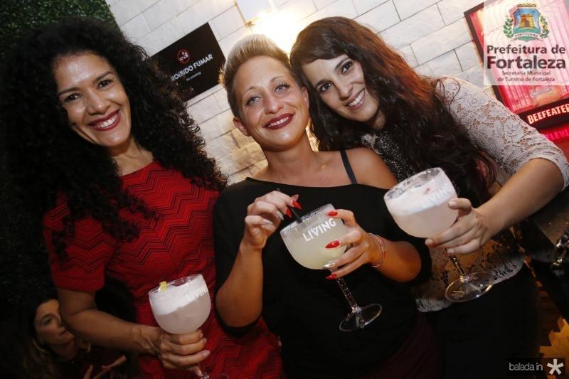 Luicely Santos, Cristina Marinho e Noemi Louis