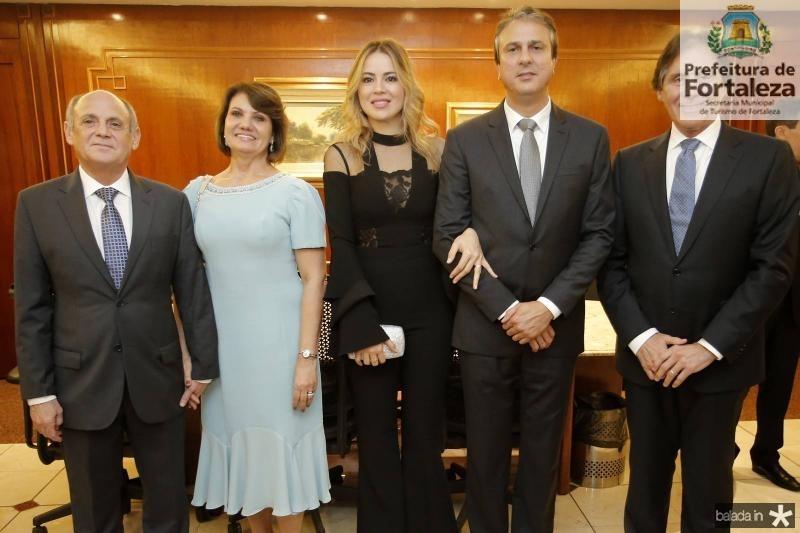 Gladyson e Neide Pontes, Onelia e Camilo Santana e Eunicio Oliveira 1