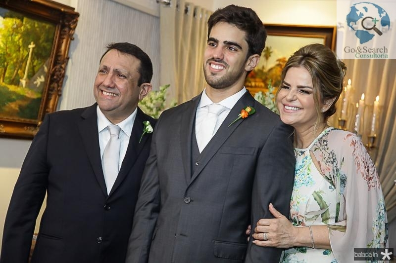 Edgar, Lucas e Ana Cristina Ximenes