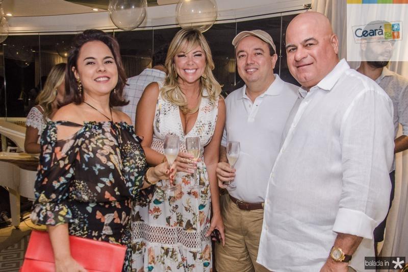 Denise Cavalcante, Patricia Dias, Vader Xavier e Luciano Cavalcante