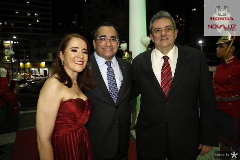 Fatima Goncalves, Jardson Cruz e Joaquim Guedes Neto