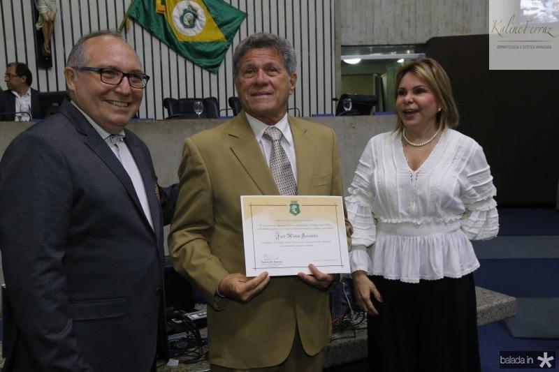 Padre Eugenio, Airton Fernandes e Albaniza Gomes