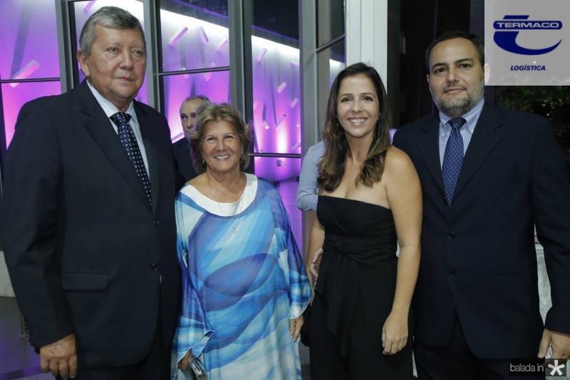 Nelson Montenegro, Ana Lucia, Ticiana e Leonardo Mota