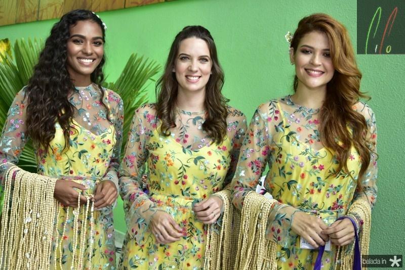 Naizia Ferreira, Debora Negreiros e Rafaela Tavares