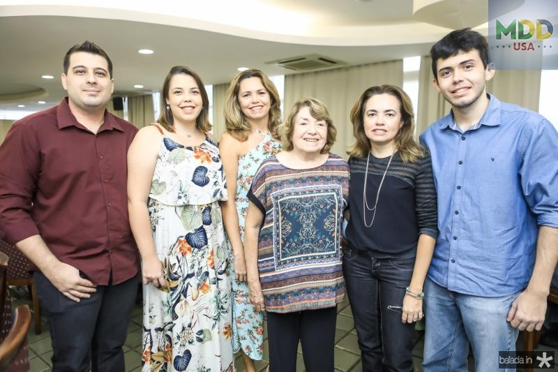 Marcio Morinelli, Lia Ponte, Patricia Ponte, Cidonia Pereira, Isabel Pereira e Leonardo Ponte