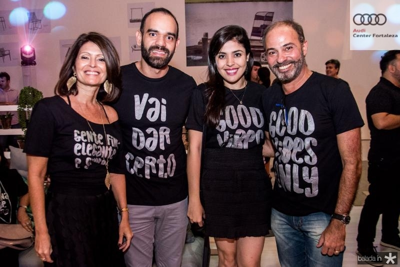 Lucy Galvao,  Rafael Bandeira, Camila Novaes e Marcus Novaes