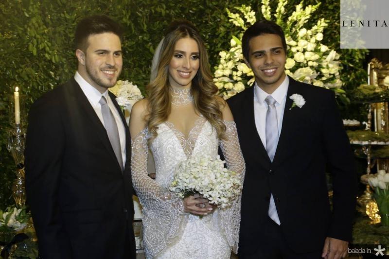 Lucas, Nathalia e Matheus Ximenes