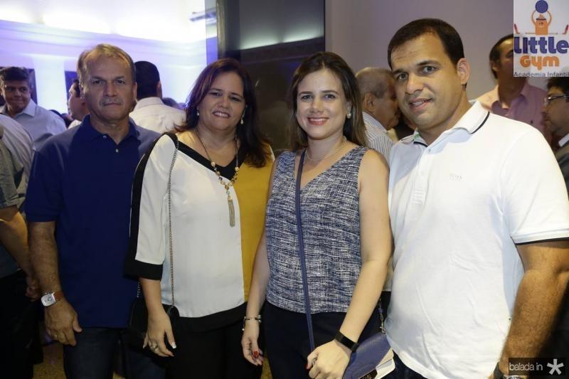 Raimundo Barroso, Walesla Covas, Julia Barroso e Thiago Covas