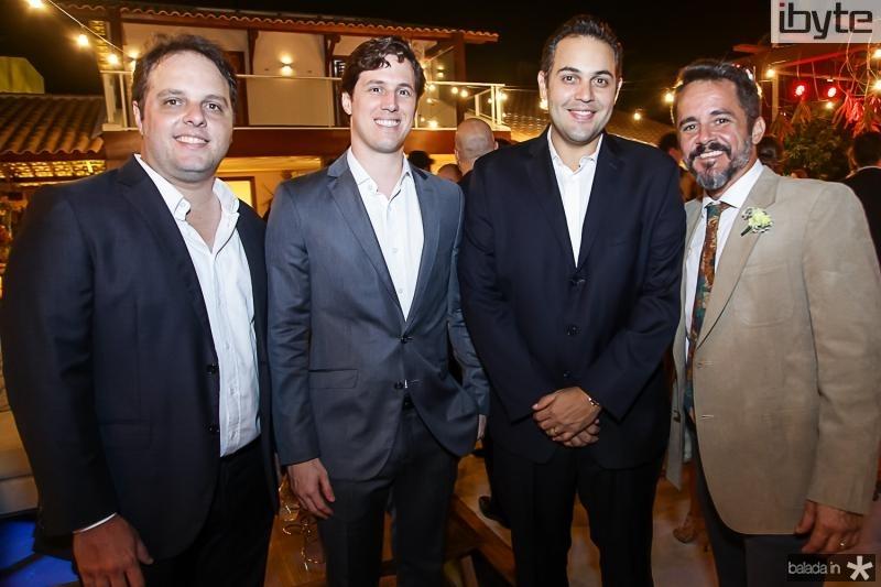 Daniel Aragao, Tiago Aguiar, Bruno Bastos e Carlos Brandao