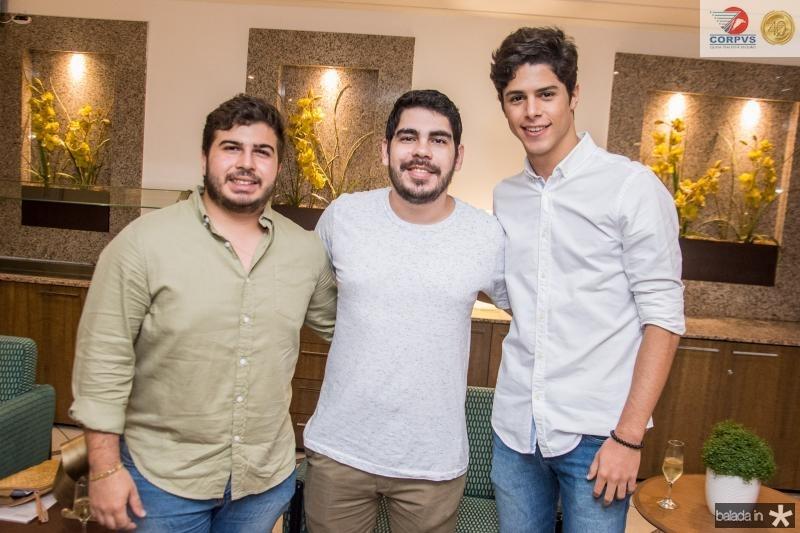 Pedro Lima Verde, Thiago Jereissati e Natan Rolim