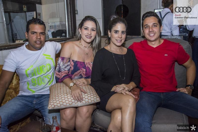 Rafael Amaral, Manuela Coelho, Lara Luna e Leandro Pontes