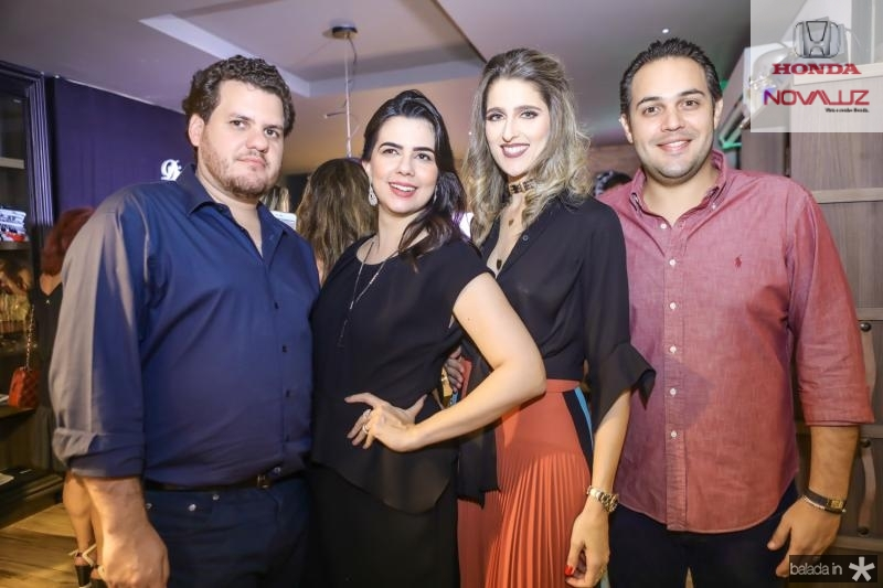 Humberto e Priscila Fontenele, Rebeca e Bruno Bastos