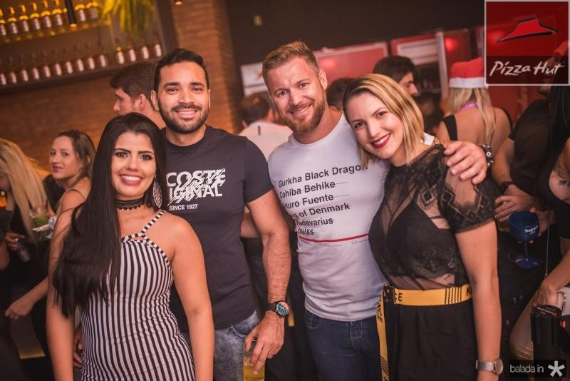 Rochele Lima, Douglas Pinheiro, Andre Oliane e Paula Bayoco
