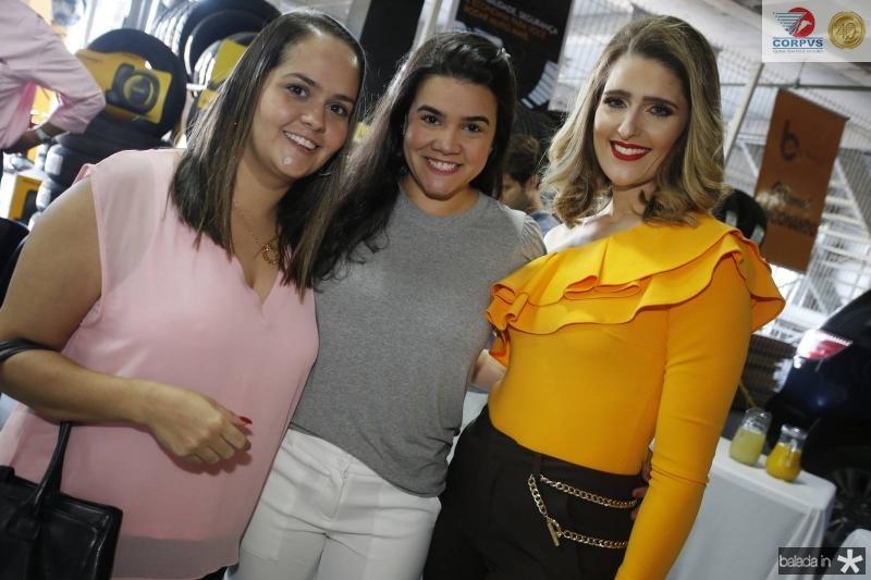 Carol Rocha, Priscila Leal e Rebeca Bastos