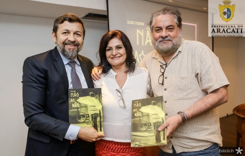 Elcio Batista, Gloria Diogenes e Paulo Linhares