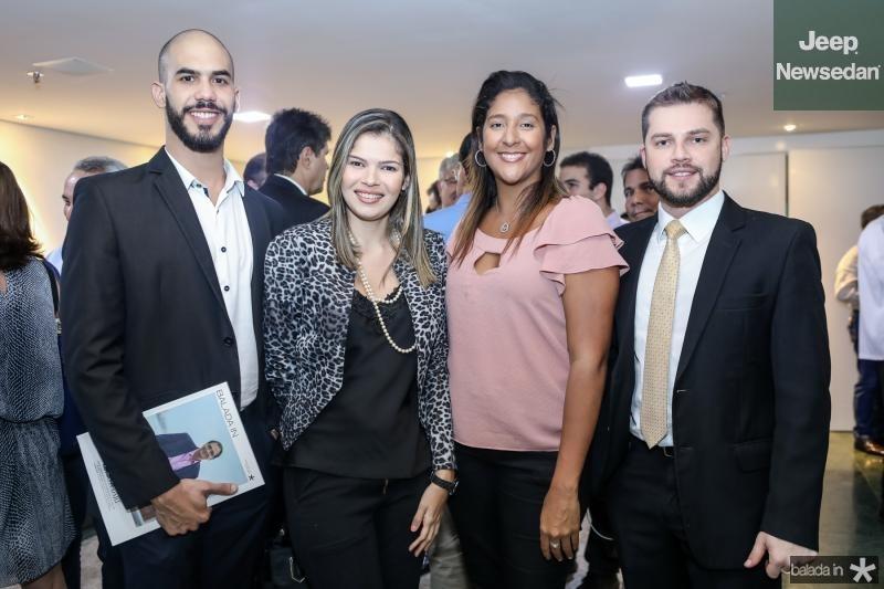 Leo Caetano, Daiana Godoi, Luciana Castro e Vitor Pedrosa