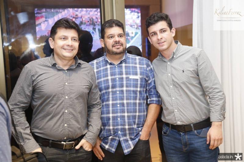 Ladislau Nogueira, Adriano Alves e Gabriel Nogueira