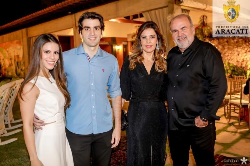 Mnaoela Rolim, Rafael Nogueira, Rosele e Aroldo Diogo