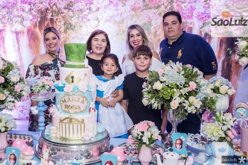 Ana Claudia Aguiar, Rosa Maria, Karem Lima, Maria Rosa Aguiar, Joao Rolim Lima e Joao Paulo Carneiro