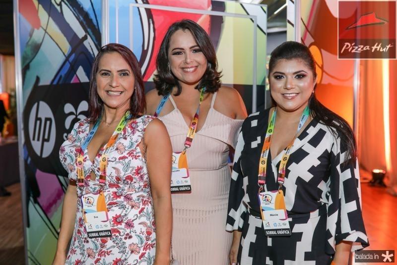 Eva Lino, Tarciana Borges e Marcia Bezerra