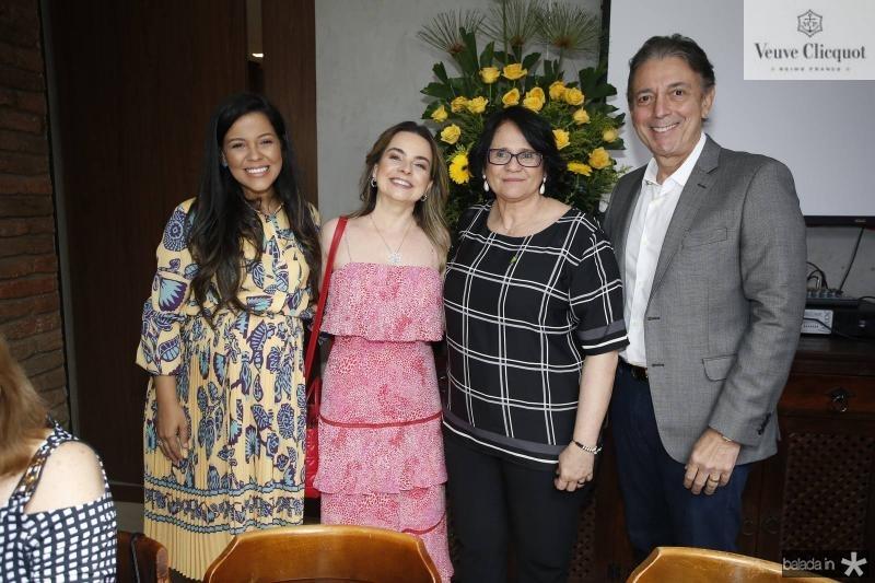 Priscila Costa, Daniele Barreira, Damares Alves e Afranio Barreira
