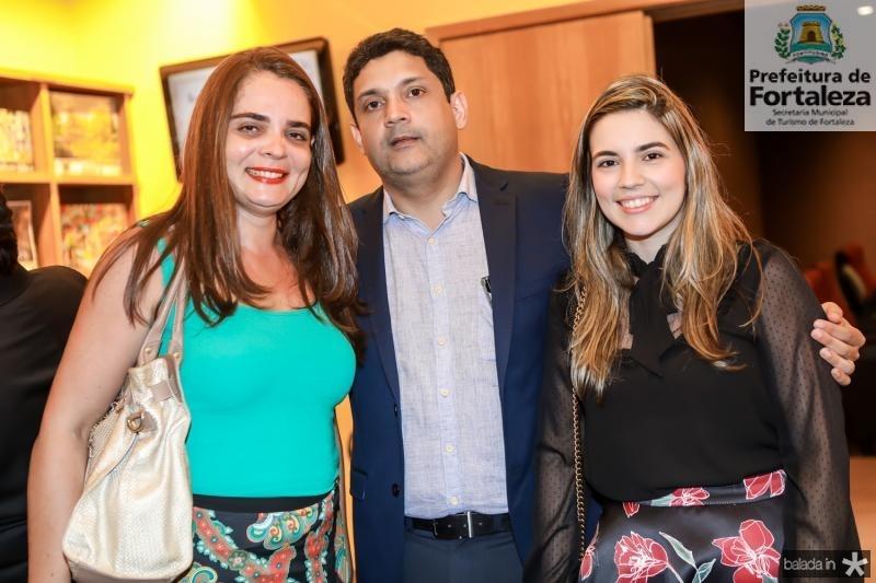 Michele Alencar, Bruno Queiroz e Juliana Bastos
