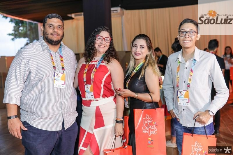 Rafael Silva, Yatmirza Soares, Bruna Cunha e Caio Damaceno