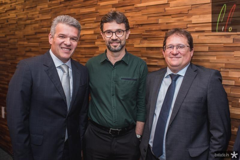 Ferruccio Feitosa, Gabriel Cavlacante e Eduardo Ramos