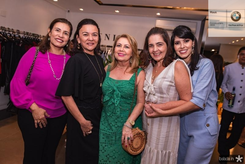 Marcia Teixeira, Guiomar Feitosa, Ines Cals, Giana Studart e Flavia Laprovitera