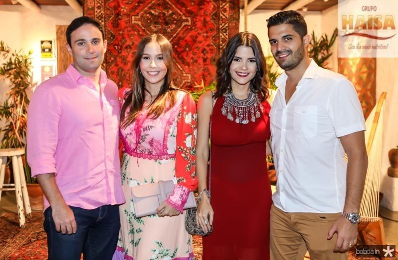 Tiago e Rafaela Asfor, Priscila e Buno Becco