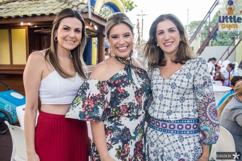 Andrea Araripe, Ana Claudia Aguiar e Sara Baquit