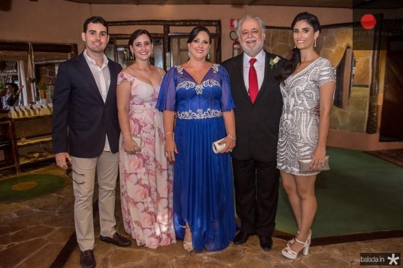 Erick Parente, Mariana Parente, Jaqueline Turbay, Afredo Turbay e Ticiana Turbay