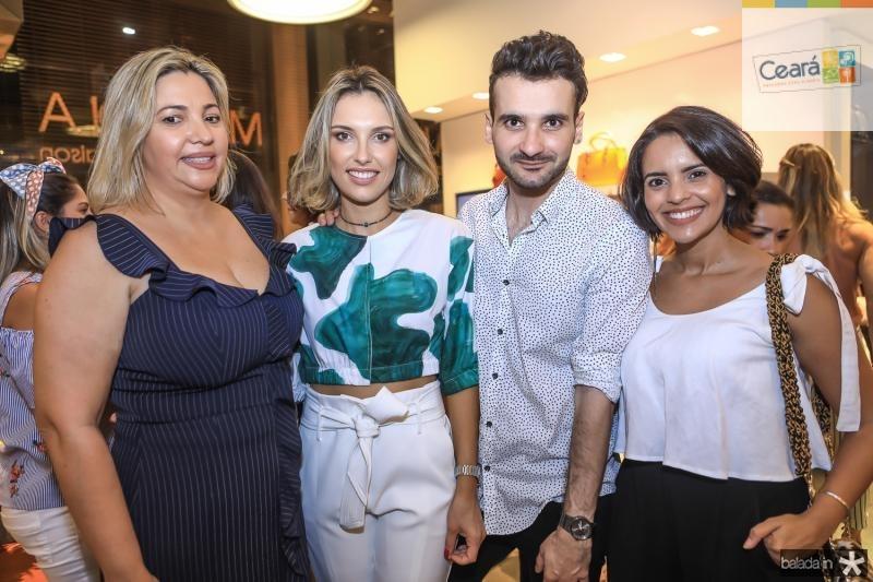 Andrea Guilherme, Rafaela Furlanetto, Jean Coronette e Minira Rocha
