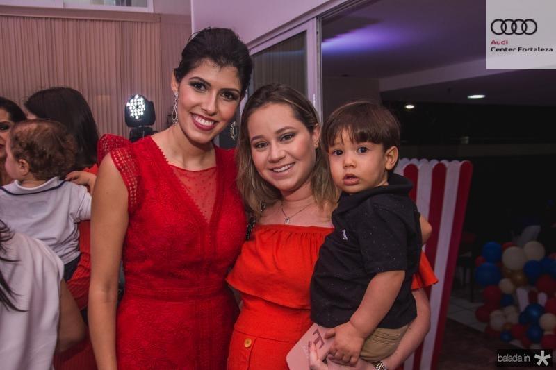 Flavia Laprovitera, Talita Almeida e Lucas Almeida