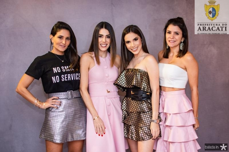 Aline Pinho, Juliana Cordeiro, Nicole Vasconcelos e Tatiana Machado