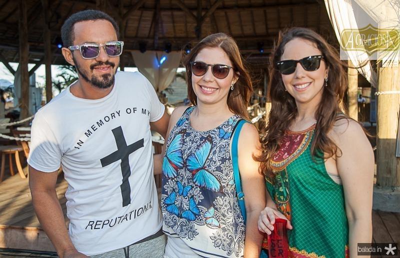 Jucelino Coutinho, Maira Feitosa e Priscila Brizeno