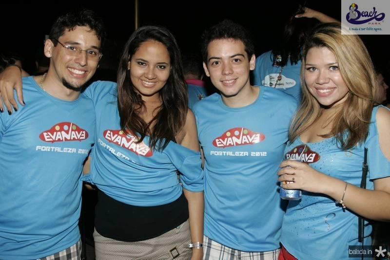 Matheus de Oliveira, Beatriz Pimenta, Felipe Machado e Agatha Christie