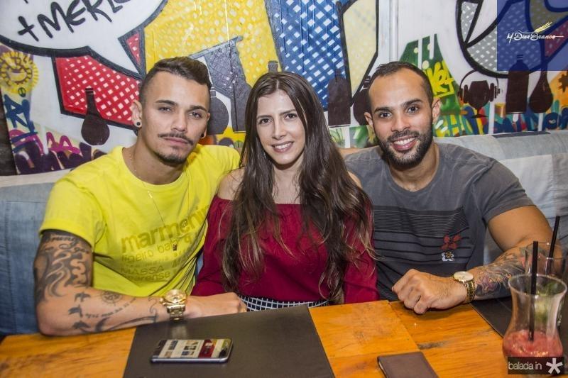 Eduardo Sampaio, Flavia Amorim e Gilson Junior