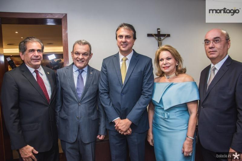 Zezinho Albuquerque, Sarto Nogueira, Camilo Santana, Iracema Vale e Luciano Lima