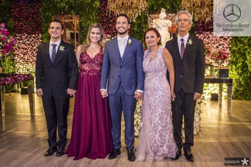Rodrigo Cabral, Susana Cabral, Rodrigo Cabral, Nadja Cabral e Rodrigo Cabral