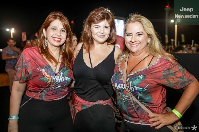 Geovana Adjafre, Nadir Lima e Beth Pinto
