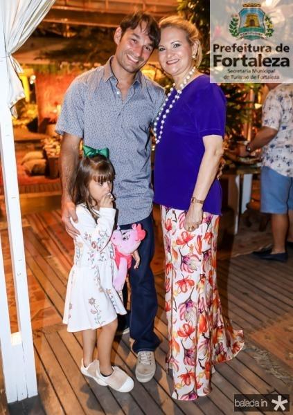 Elizabeth, Claudio e Lenise Rocha
