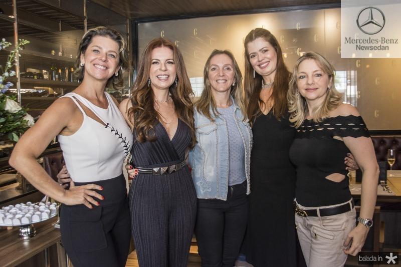 Ana Cristiana Wolf, Claudia Quental, Socorro Dias, Lucia Fialho e Andrea Almeida