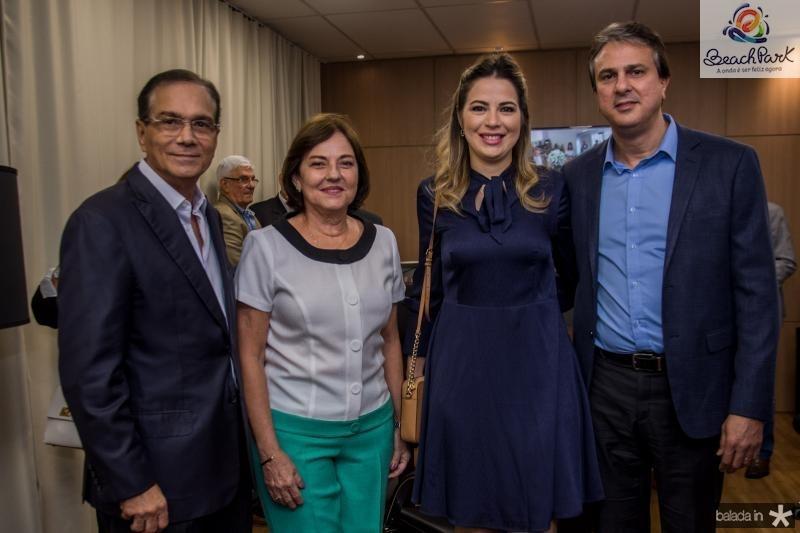 Beto Studart, Ana Studart, Onelia Leite e Camilo Santana