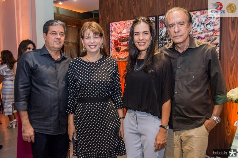 Emanuel Chaves, Aline Telles, Heloísa Telles e Everardo Telles