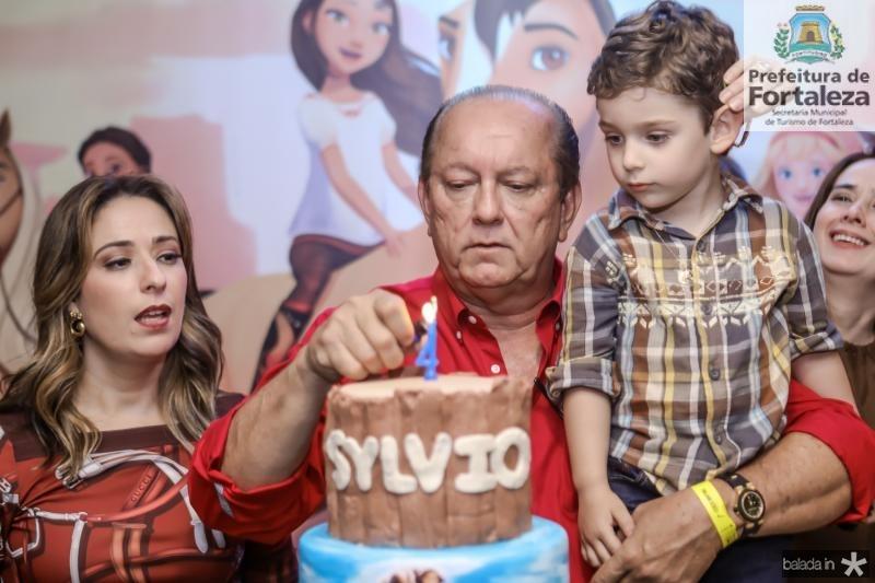 Silvinha, Rafael e Sylvio Leal