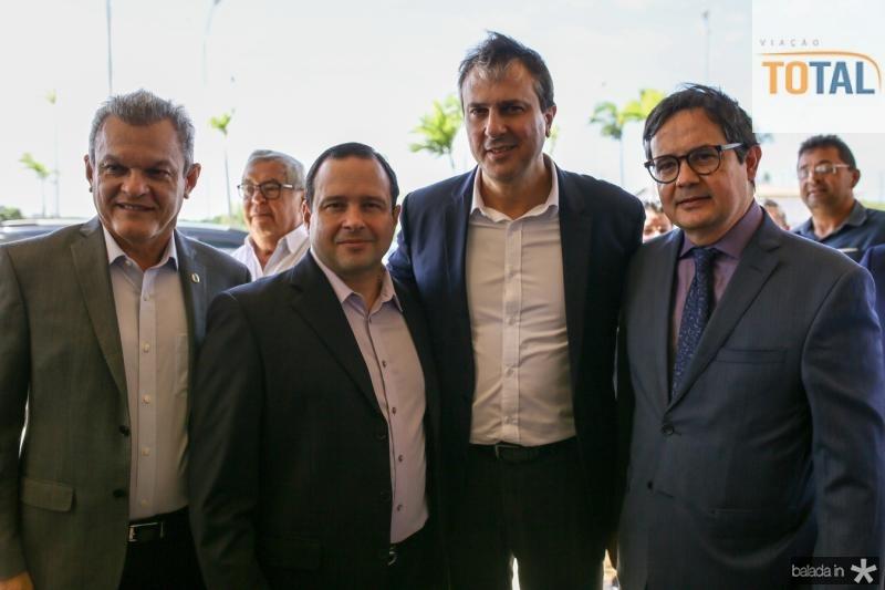 Sarto Nogueira, Igor Barroso, Camilo Santana e Edilberto Pontes