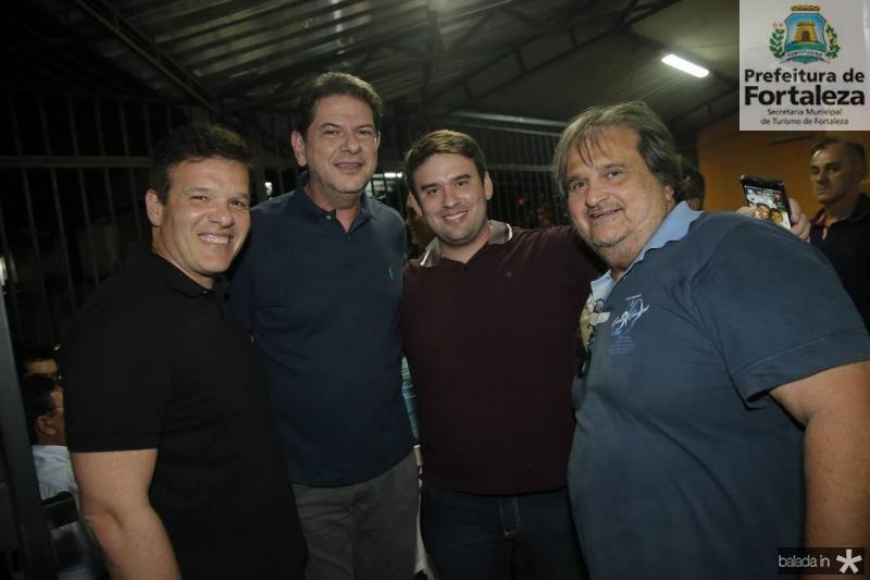 Ferruccio Feitosa, Cid Gomes, Daniel Bastos e Vaval